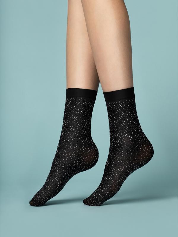 Punčochové ponožky Fiore Pepe Bianco